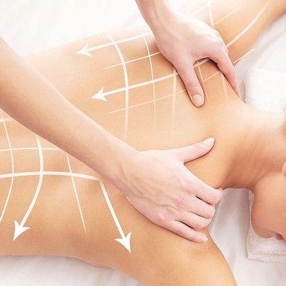 60minutová masáž pro uvolnění zad a šíje