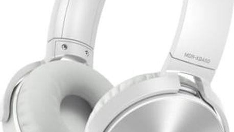 Sony MDR-XB450AP, bílá