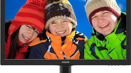 """Philips 243V5QHSBA - LED monitor 24"""" - 243V5QHSBA/00 + Zdarma AQ KVH015, HDMI/HDMI, 1,5m ( v ceně 229,-)"""
