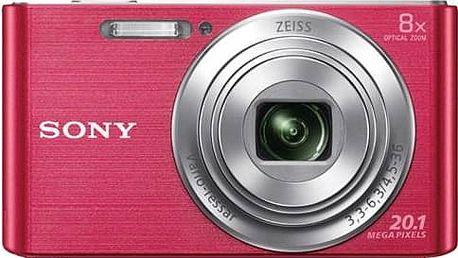 Digitální fotoaparát Sony DSC-W830P růžový + Doprava zdarma