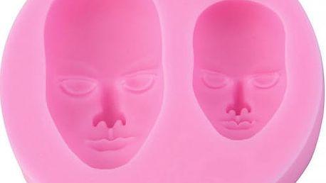 Silikonová 3D formička - Lidská tvář