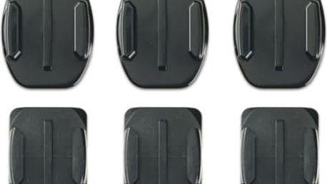 Sada držáků GoPro nalepovací rovné + zakřivené (AACFT-001) černý