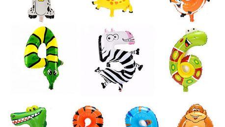 Nafukovací balónek v podobě zvířátka - Číslice