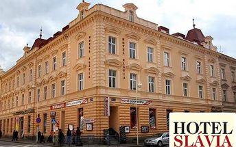 3denní pobyt pro 2 osoby v hotelu Slávia Tábor s bohatými snídaněmi. Děti do 6 let zdarma.