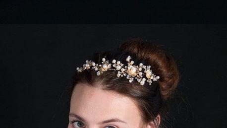Fashion Icon Plesová čelenka Gold flowers do vlasů svatební
