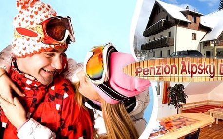 Zima na Šumavě - pobyt pro 2 osoby na 3 nebo 6 dní v moderních apartmánových bytech s polopenzí v rodinném Penzionu Alpský Dům. Vyhlášené horské středisko Železná Ruda, v blízkosti lyžařské areály i bežecké tratě a nádherná šumavská příroda. 1 dítě do 15