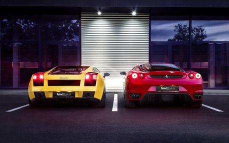 Jízda ve Ferrari F430 či v Lamborghini Gallardo: až 60 minut jízdy jako řidič či spolujezdec