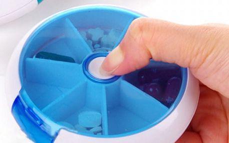 Pouzdro na léky s dávkovačem - modrá - dodání do 2 dnů