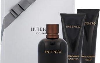 Dolce & Gabbana Pour Homme Intenso dárková kazeta pro muže parfémovaná voda 125 ml + balzám po holení 100 ml + sprchový gel 50 ml