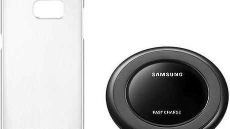 Sada pro bezdrátové nabíjení Samsung Hero Starter Kit pro Galaxy S7 (ET-KG930BSEGWW) stříbrný
