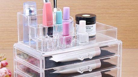 Organizér na kosmetiku se šuplíky