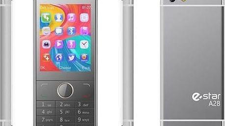 Mobilní telefon eStar A28 Dual SIM stříbrný