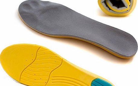 Ortopedické vložky do bot z paměťové pěny - velikost 7 - dodání do 2 dnů