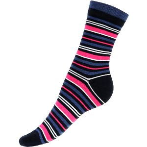 Proužkované ponožky tmavě modrá