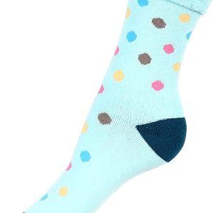 Puntíkované thermo ponožky tmavě modrá