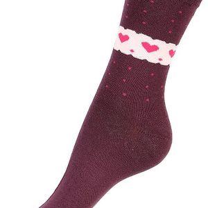 Ponožky se srdíčky krémová
