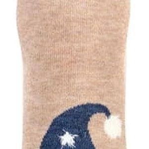 Dámské ponožky s obrázkem hnědá