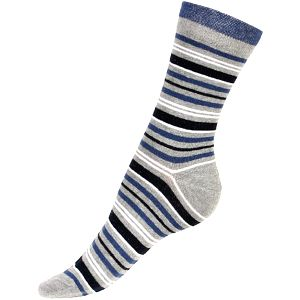 Proužkované ponožky hnědá