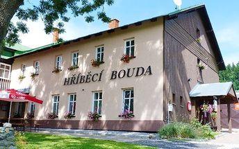 3–4denní pobyt s wellness v hotelu Hříběcí bouda v Krkonoších pro 2 či rodinu