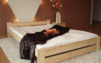 Maxi Drew Euro postel + rošty na výběr AKCE SLEVA 180x200