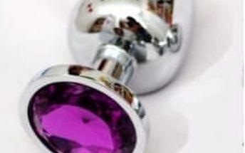 Anální kolík kovový s krystalem - velký