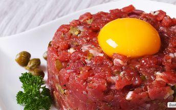 Půlkilový tatarák z prémiového hovězího masa