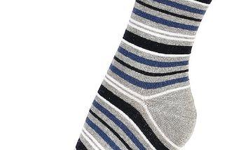 Proužkované ponožky růžová