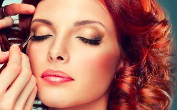 Večerní líčení a hairstyling včetně zkoušky