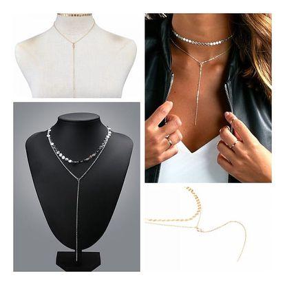 Vícevrstvý náhrdelník pro dámy ve dvou barvách