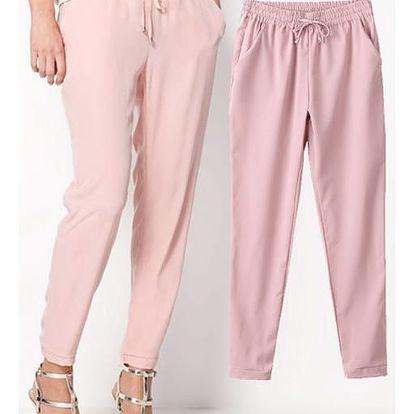 Pohodlné dámské kalhoty z příjemného šifonu - různé barvy