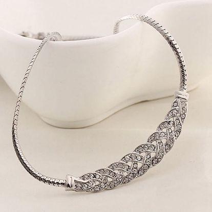 Dámský náhrdelník s luxusním zdobením - 2 barvy - dodání do 2 dnů