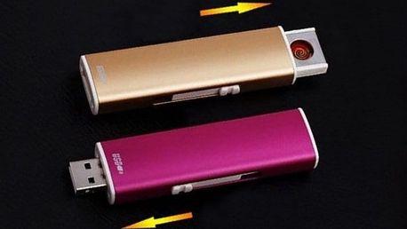USB zapalovač funkční i v největším větru v 5 barvách