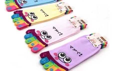 Veselé prstové ponožky pro ženy - 6 barev