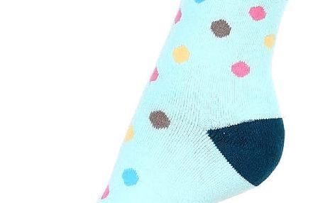 Puntíkované thermo ponožky šedá