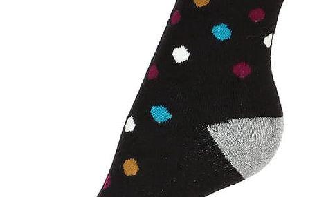 Puntíkované thermo ponožky černá