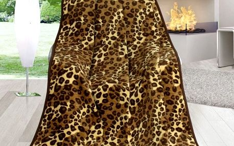 Bellatex Deka Karmela Plus Leopardí kůže, 150 x 200 cm