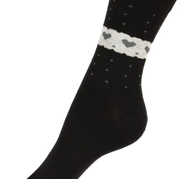 Ponožky se srdíčky černá