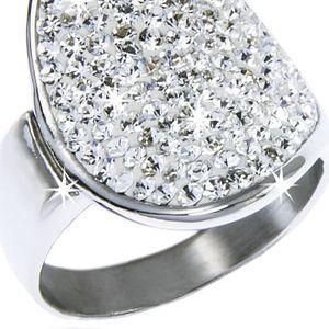 Fashion Icon Prsten - chirurgická ocel s krystalky