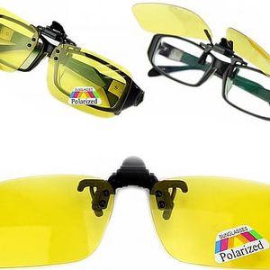 Polarizační klip na brýle - Eliminují odlesky a odrazy světel