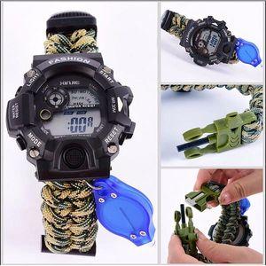 Paracord vodotěsné hodinky pro přežití