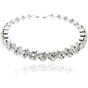 Fashion Icon Náramek kruh s krystalky - plesová bižuterie