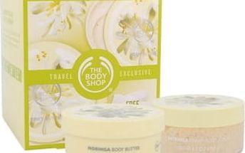 The Body Shop Moringa dárková kazeta pro ženy tělové máslo 200 ml + tělový peeling 200 ml + rukavice