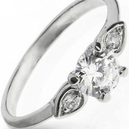 Fashion Icon Prsten bižuterie tři krystaly