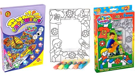 Výtvarné sady pro děti - vitrážky na vybarvení