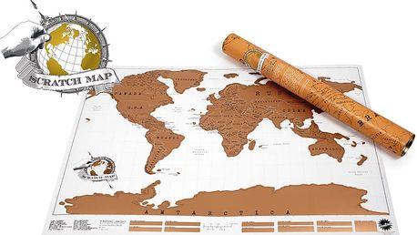 Unikátní a stylová stírací mapa - Travel Map the World