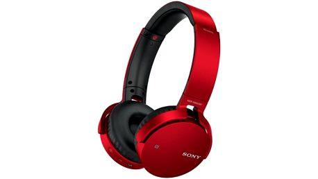 Sluchátka Sony MDRXB650BTR.CE7 (MDRXB650BTR.CE7) červená
