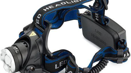 LED voděodolná čelovka TA 309 - Zoom a dosvit až 500 metrů.