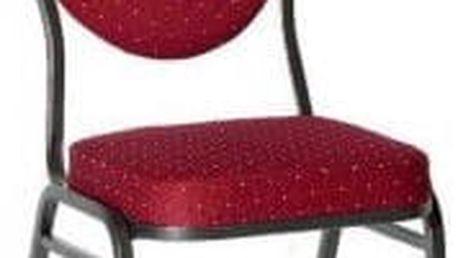 Kvalitní židle kovová Monza - červená