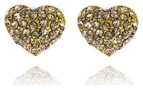 Fashion Icon Náušnice srdíčka s krystalky