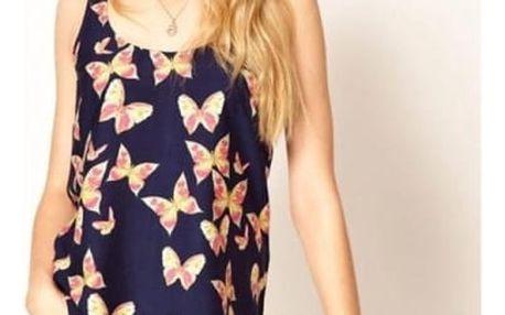 Dámské tílko s motivem motýlků